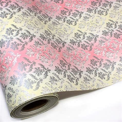 wrapping paper in bulk damask pink bulk gift ream roll wrapping paper 82ft 25m ebay