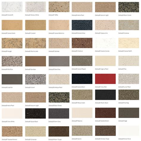 corian countertop colors colors of zodiaq zodiaq quartz autos post