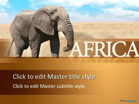 africa powerpoint template free elephant ppt template