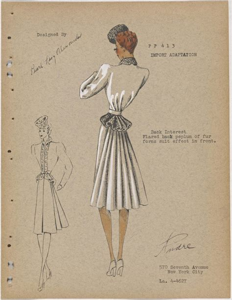New Studio C Sketches by A 30s Era Fashion Sketch Archive Goes Wgsn Insider
