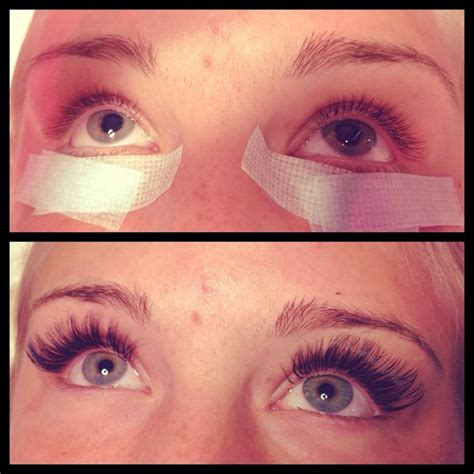 Vanity Lash by Before After Of A Set Of Volume Lashes Done By