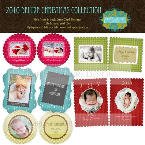 deluxe photo card templates deluxe collection 20 original 40 simply