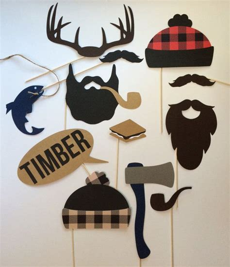 free printable lumberjack photo booth props lumberjack party set lumberjack party photo booth and