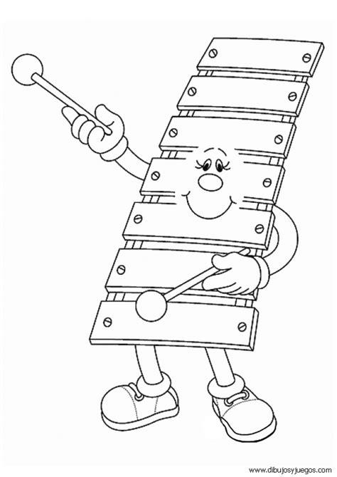 imagenes para colorear instrumentos musicales dibujos instrumentos musicales 068 dibujos y juegos