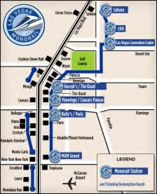 Map To Las Vegas by Using The Free Las Vegas Tram System To Get Around