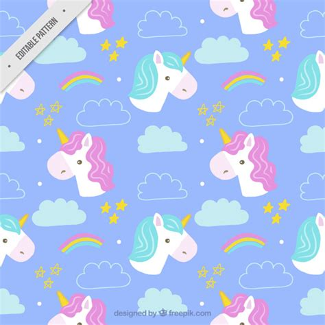 cute pattern vector free hand drawn cute unicorns patterns vector free download