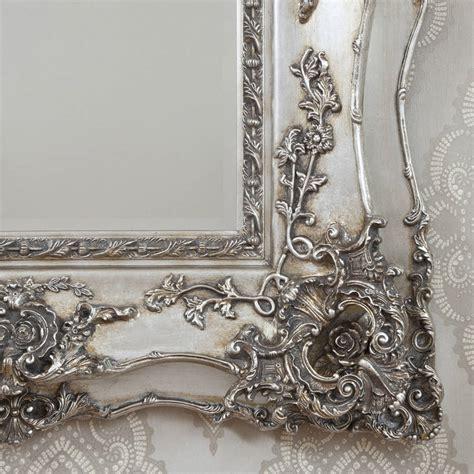Vintage Silber by Vintage Ornate Silver Decorative Mirror By Decorative