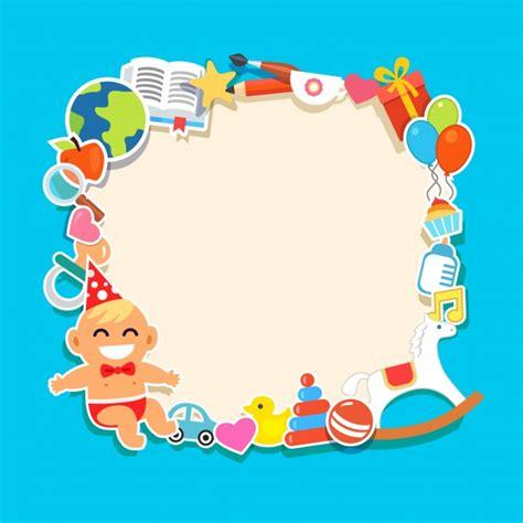 cornice di cartone cornice per bambini di cartone animato scaricare vettori