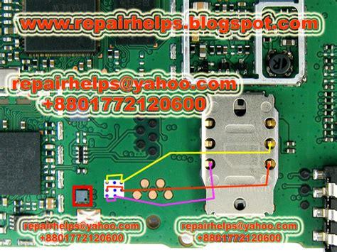 Connector Sim Card Nokia 1202 repair helps nokia 1202 insert sim solution