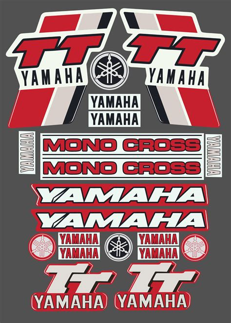 Yamaha Sticker Kits Australia yamaha tt sticker kit