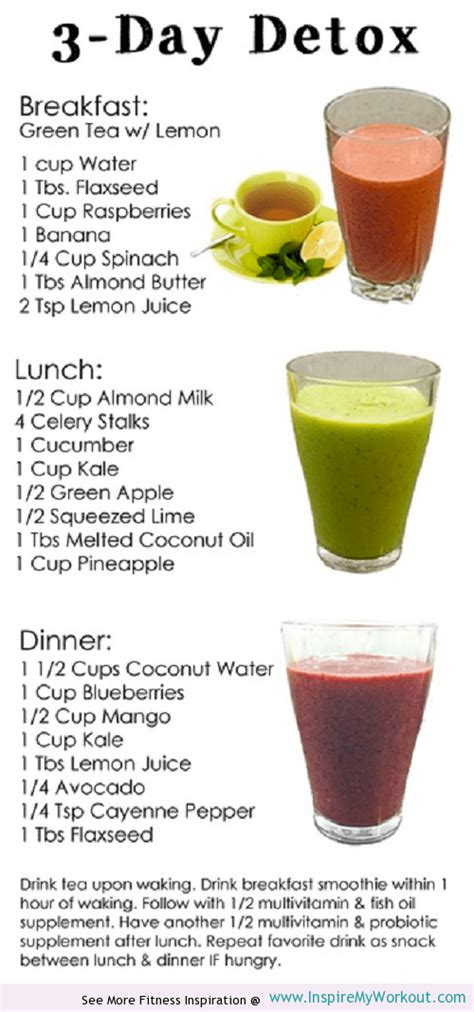 Detox Diet Plan For Skin by 3 Day Detox Inspiremyworkout A Collection Of