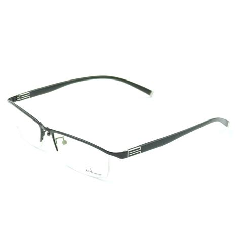 new designer mens eyeglasses frames lateral line half rimless prescription rx ebay