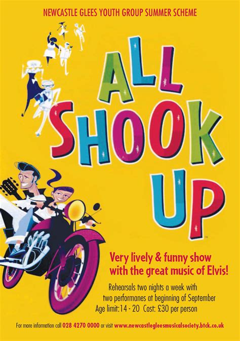 all shook up newcastle glee singers musical society all shook up 2012