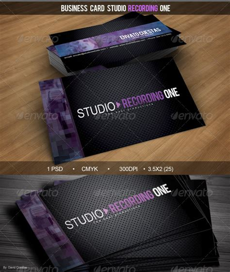business card studio business card studio recording one graphicriver