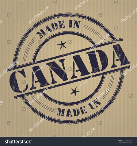 Grunge Made In Canada White - made in canada grunge rubber st stock vector 335406914