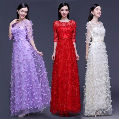 robe de soiree 2017 lace shoulders sleeved lace evening dress toast vestido de