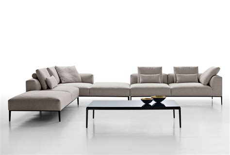 contemporary modular sofa modular sofa contemporary fabric leather michel effe