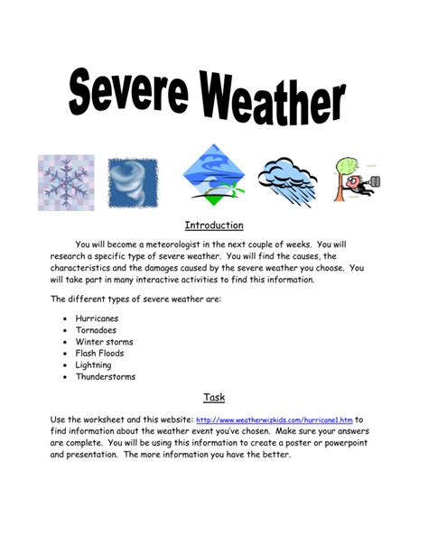 printable tornado quiz severe weather worksheet bluegreenish