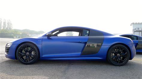 Blue Audi R8 by 2013 Audi R8 V10 Plus In Matt Sepang Blue