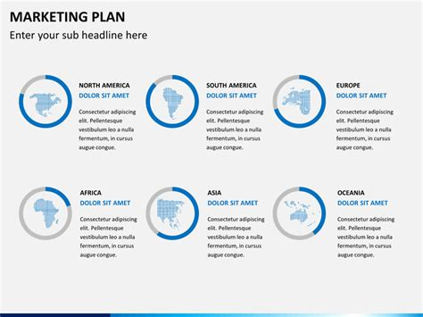 powerpoint marketing plan template content marketing