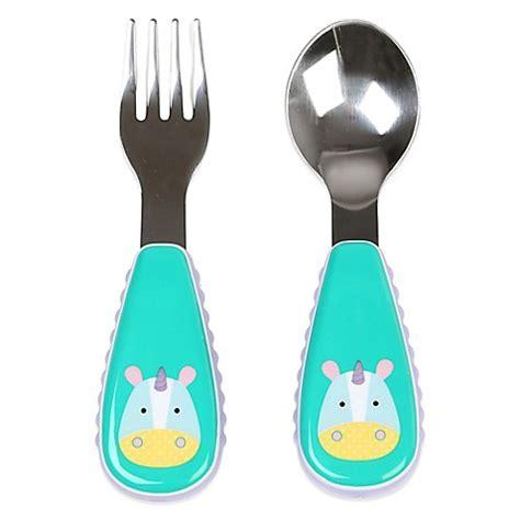 Zootensils Kid Fork Spoon Hedgehog skip hop 174 zootensils fork spoon in unicorn bed bath beyond
