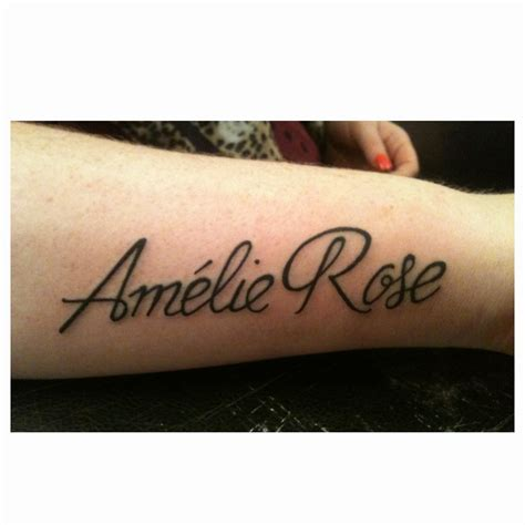 tattoo with names and design in style name designs