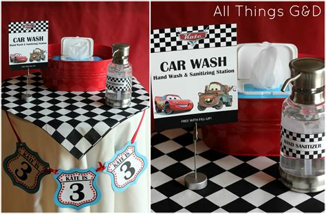 themed parties filling station the making of kate s cars birthday party all things g d