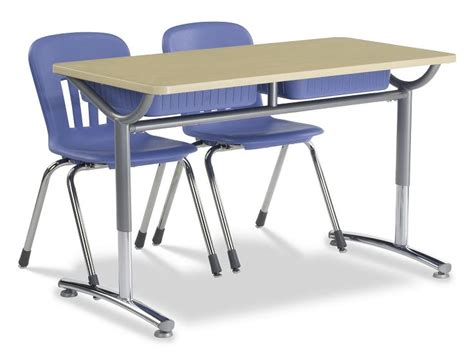 Virco Text Double Open Front School Desk Td24488yadjbb School Desks For