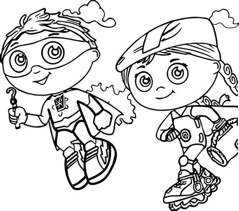 Super Why Coloring Pages Best Coloring Pages For Kids Extremely Coloring Pages