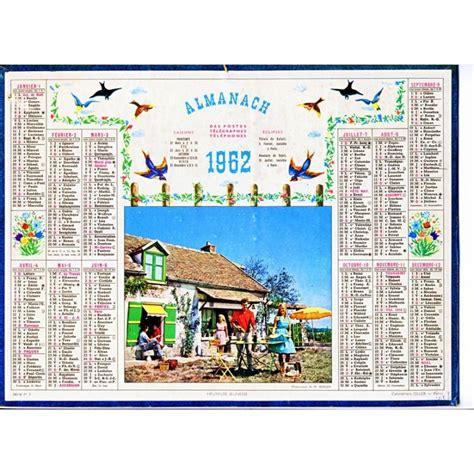 Calendrier De 1962 Calendrier Almanach Des Postes Telegraphes Telephones 1962