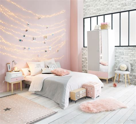 white and grey bedrooms pink white and grey girl s bedroom maisons du monde