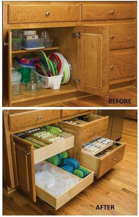 kitchen cabinet storage containers best 25 tupperware organizing ideas on pinterest