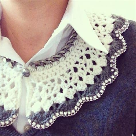 tutorial rajut renda 25 best ideas about crochet collar pattern on pinterest
