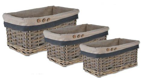 wicker bathroom storage baskets storage wicker willow lined basket bread fruit her