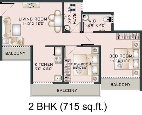 floor plan for 1 bedroom house