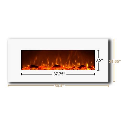 Touchstone Fireplace by Touchstone Ivory 50 Inch Electric Wall Mounted Fireplace