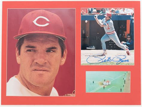 johnny bench pete rose lot detail johnny bench pete rose signed photo cut
