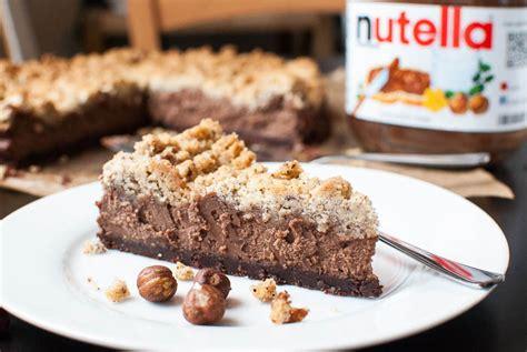 nutella schnitte nutella schoko k 228 sekuchen mit haselnuss streuseln kaffee