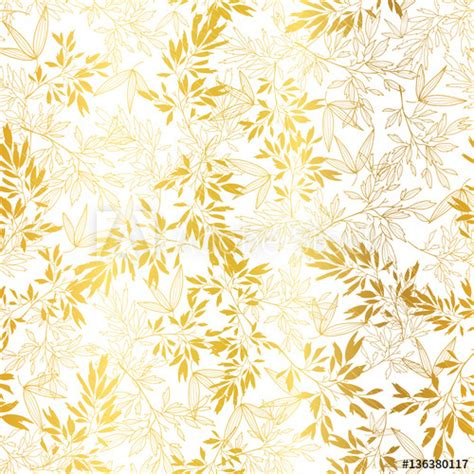 gold pattern card stock vector gold on white asian leaves seamless pattern