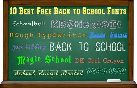 back to school lettering or 10 best free back to school fonts