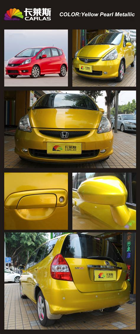 yellow car pearl metallic paint colors car wrap with car