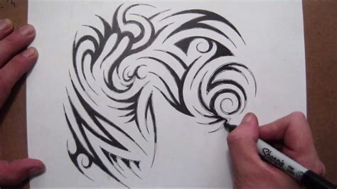 tribal chest piece tattoos drawing a tribal half sleeve and chest design