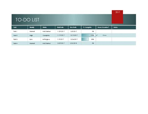 to do list in excel template featured excel templates