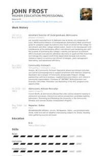 academic advisor resume sles visualcv resume sles