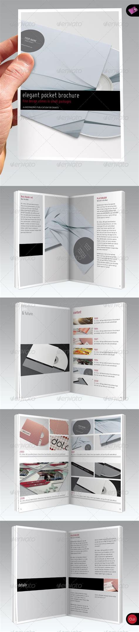 template brochure elegant elegant series a6 pocket brochure template black books