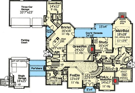 Dream House Blueprints Plan W48266fm Dream Home Plan With Three Staircases E