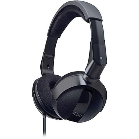 Headphone Mega Bass Iluv Ihp605 Mega Bass Pro Headphones Ihp605blk B H Photo