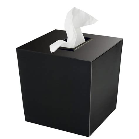 Tissue Hotel Cover 50 Set bathroom collections bs spa9b spa black hotel tissue box cover