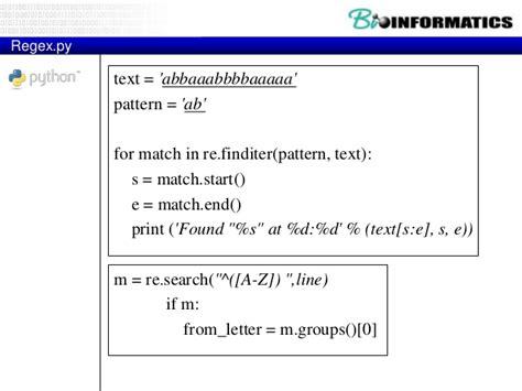 pattern matching in python 3 2015 bioinformatics bio python part3