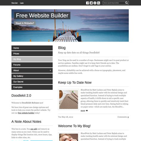 New Templates Simple Group Left Side Menu Website Templates Free